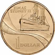 Australia 1 Dollar (HMAS Sydney II) KM# 422 HMAS SYDNEY II 1 DOLLAR coin reverse