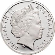 Australia 1 Dollar Howard Florey 1998 KM# 366a ELIZABETH II AUSTRALIA 1998 RDM coin obverse