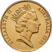 Australia 1 Dollar (Howard Florey) KM# 366 ELIZABETH II AUSTRALIA 1998 RDM coin obverse