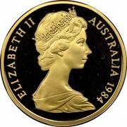 Australia 1 Dollar Kangaroos 1984 Proof KM# 77 ELIZABETH II AUSTRALIA *YEAR* RDM coin obverse