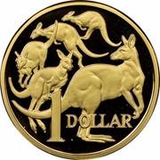 Australia 1 Dollar Kangaroos 1984 Proof KM# 77 1 DOLLAR coin reverse