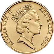 Australia 1 Dollar Kangaroos 1994 Proof KM# 84 ELIZABETH II AUSTRALIA *YEAR* RDM coin obverse
