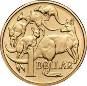 Australia 1 Dollar Kangaroos 1994 Proof KM# 84 1 DOLLAR coin reverse
