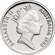 Australia 1 Dollar (Kangaroos) KM# 84a ELIZABETH II AUSTRALIA 1990 RDM coin obverse