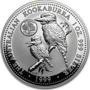 Australia 1 Dollar Kookaburra. U.S. State Quarter - Connecticut 1999 KM# 608 THE AUSTRALIAN KOOKABURRA 1 OZ. 999 SILVER • 1999 • P100 coin reverse