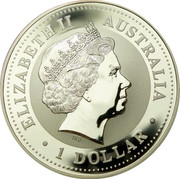 Australia 1 Dollar Kookaburra U.S. State Quarter - Maryland 2000 KM# 612 ELIZABETH II AUSTRALIA • 1 DOLLAR • IRB coin obverse