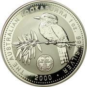 Australia 1 Dollar Kookaburra U.S. State Quarter - Maryland 2000 KM# 612 THE AUSTRALIAN KOOKABURRA 1 OZ. 999 SILVER • 2000 • coin reverse