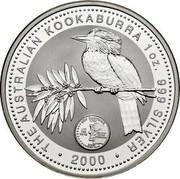 Australia 1 Dollar Kookaburra. U.S. State Quarter - New Hampshire 2000 KM# 614 THE AUSTRALIAN KOOKABURRA 1 OZ 999 SILVER 2000 coin reverse