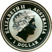 Australia 1 Dollar Kookaburra U.S. State Quarter - South Carolina 2000 KM# 613 ELIZABETH II AUSTRALIA • 1 DOLLAR • IRB coin obverse