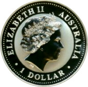 Australia 1 Dollar Kookaburra. U.S. State Quarter - Virginia 2000 KM# 615 ELIZABETH II AUSTRALIA 1 DOLLAR coin obverse