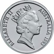 Australia 1 Dollar Landcare Australia 1993 KM# 208a.2 ELIZABETH II AUSTRALIA 1993 RDM coin obverse