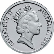 Australia 1 Dollar Landcare Australia 1993 KM# 208a.1 ELIZABETH II AUSTRALIA 1993 RDM coin obverse