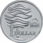 Australia 1 Dollar Landcare Australia 1993 KM# 208a.1 LANDCARE AUSTRALIA 1 DOLLAR coin reverse