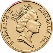 Australia 1 Dollar (Landcare Australia) KM# 208 ELIZABETH II AUSTRALIA 1993 RDM coin obverse