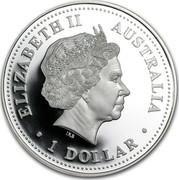 Australia 1 Dollar Millennium - Earth - Moon - Sun 2000 KM# 514 ELIZABETH II AUSTRALIA 1 DOLLAR IRB coin obverse