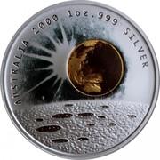 Australia 1 Dollar Millennium - Earth - Moon - Sun 2000 KM# 514 AUSTRALIA 2000 1 OZ. 999 SILVER coin reverse