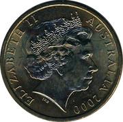 Australia 1 Dollar Olymphilex Exhibition - Canberra 2000 C KM# 529.2 ELIZABETH II AUSTRALIA 2000 IRB coin obverse