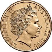 Australia 1 Dollar Olymphilex Exhibition - Sydney 2000 S KM# 529.1 ELIZABETH II AUSTRALIA 2000 IRB coin obverse
