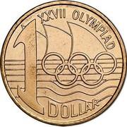 Australia 1 Dollar Olymphilex Exhibition - Sydney 2000 S KM# 529.1 1 DOLLAR XXVII OLYMPIAD coin reverse