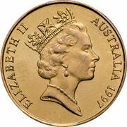 Australia 1 Dollar Sir Charles Kingsford Smith 1997 KM# 327 ELIZABETH II AUSTRALIA 1997 RDM coin obverse