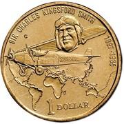 Australia 1 Dollar Sir Charles Kingsford Smith 1997 KM# 355 SIR CHARLES KINGSFORD SMITH 1897-1935 SOUTHERN CROSS 1 DOLLAR coin reverse