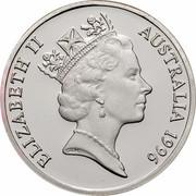 Australia 1 Dollar Sir Henry Parkes 1996 KM# 310a ELIZABETH II AUSTRALIA 1996 RDM coin obverse