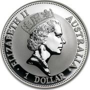 Australia 1 Dollar The Australian Kookaburra 1993 KM# 209 ELIZABETH II AUSTRALIA 1 DOLLAR RDM coin obverse