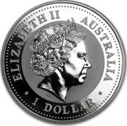 Australia 1 Dollar The Australian Kookaburra (Georgia Privy Mark) 1999 KM# 607 ELIZABETH II AUSTRALIA 1 DOLLAR IRB coin obverse