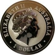 Australia 1 Dollar The Australian Kookaburra (New Jersey Privy Mark) 1999 KM# 606 ELIZABETH II AUSTRALIA 1 DOLLAR IRB coin obverse