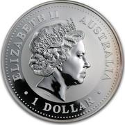 Australia 1 Dollar The Australian Kookaburra (Pennsylvania Privy Mark) 1999 KM# 605 ELIZABETH II AUSTRALIA 1 DOLLAR IRB coin obverse