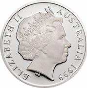 Australia 1 Dollar The Last Anzac 1999 KM# 400a ELIZABETH II AUSTRALIA 1999 IRB coin obverse