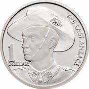 Australia 1 Dollar The Last Anzac 1999 KM# 400a THE LAST ANZACS 1 DOLLAR coin reverse