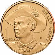 Australia 1 Dollar (The Last Anzac) KM# 400 THE LAST ANZACS 1 DOLLAR C coin reverse