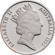 Australia 1 Dollar Waltzing Matilda 1995 KM# 269a.2 ELIZABETH II AUSTRALIA 1995 RDM coin obverse