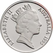Australia 1 Dollar Waltzing Matilda 1995 KM# 269a.1 ELIZABETH II AUSTRALIA 1995 RDM coin obverse