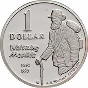 """Australia 1 Dollar Waltzing Matilda 1995 KM# 269a.2 1 DOLLAR WALTZING MATILDA 1895 1995 A.B.""""BANJO"""" PATERSON coin reverse"""