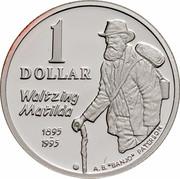 """Australia 1 Dollar Waltzing Matilda 1995 KM# 269a.1 1 DOLLAR WALTZING MATILDA 1895 1995 A.B.""""BANJO"""" PATERSON coin reverse"""