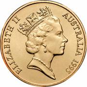 Australia 1 Dollar (Waltzing Matilda) KM# 269 ELIZABETH II AUSTRALIA 1995 RDM coin obverse
