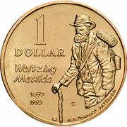"Australia 1 Dollar (Waltzing Matilda) KM# 269 1 DOLLAR WALTZING MATILDA 1895 1995 A.B.""BANJO"" PATERSON C coin reverse"
