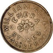Australia 1 Penny 1855 KM# Tn10 Private Token issues WILLIAM ALLEN GENERAL STORES JAMBEROO coin obverse