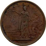 Australia 1 Penny 1855 KM# Tn20 Private Token issues AUSTRALIA coin obverse