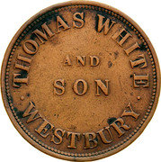Australia 1 Penny 1855 KM# Tn270 Private Token issues WHITE AND SON WESTBURY coin obverse