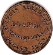 Australia 1 Penny 1855 KM# Tn7 Private Token issues TASMANIA coin reverse