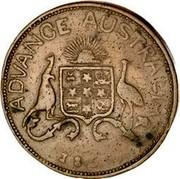 Australia 1 Penny 1855 KM# Tn10 Private Token issues ADVANCE AUSTRALIA 1855 coin reverse