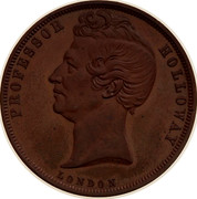Australia 1 Penny 1857 KM# Tn278.2 Foreign Token issues PROFESSOR HOLLOWAY LONDON coin obverse