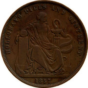 Australia 1 Penny 1857 KM# Tn278.1 Foreign Token issues HOLLOWAY'S PILLS AND OINTMENT coin reverse