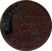 Australia 1 Penny 1857 KM# Tn85.3 Private Token issues PEACE & PLENTY coin reverse