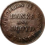 Australia 1 Penny 1857 KM# Tn85.2 Private Token issues PEACE & PLENTY coin reverse