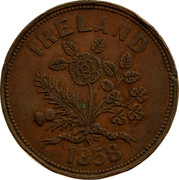 Australia 1 Penny 1858 KM# Tn276 Foreign Token issues IRELAND 1858 coin reverse