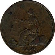 Australia 1 Penny 1859 KM# Tn29 Private Token issues 1859 coin obverse